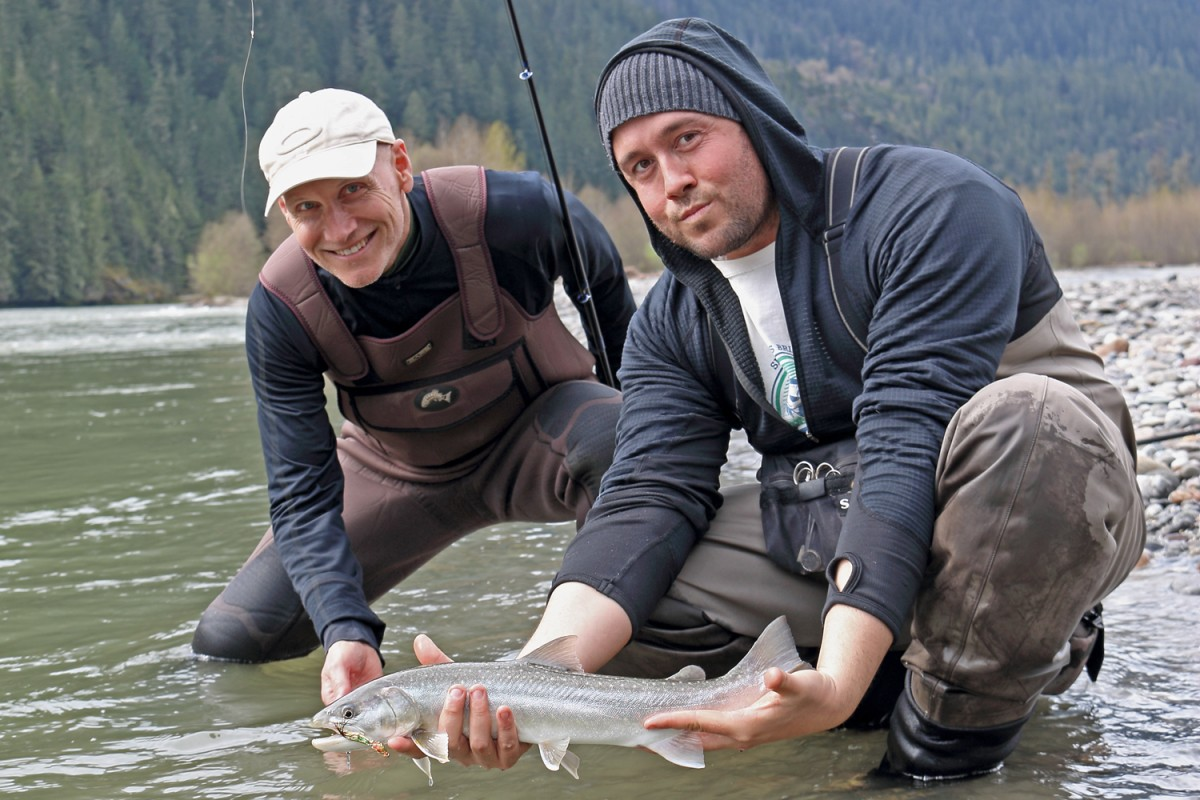 Terry and Yos with Squamish River bull trout