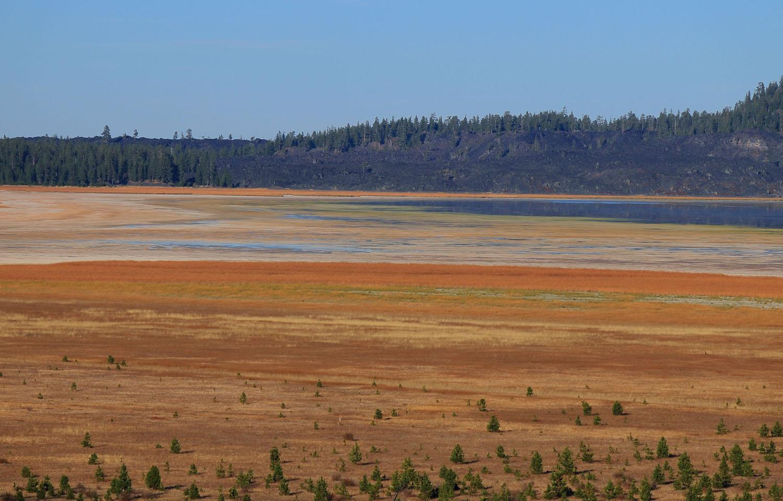 Davis Lake Oregon very low water