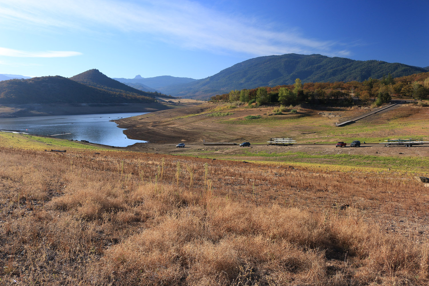 Emigrant Lake, Ashland Oregon down to 11% capacity from four years of drought