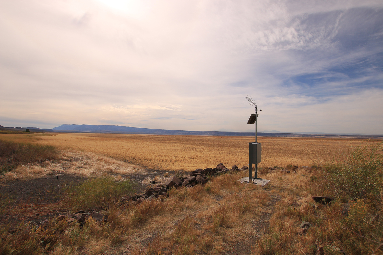 Hart Lake water gauging station high and dry