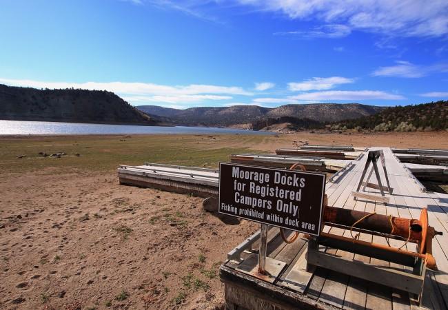 Drought leaves prineville reservoir at less than 30 for Prineville reservoir fishing