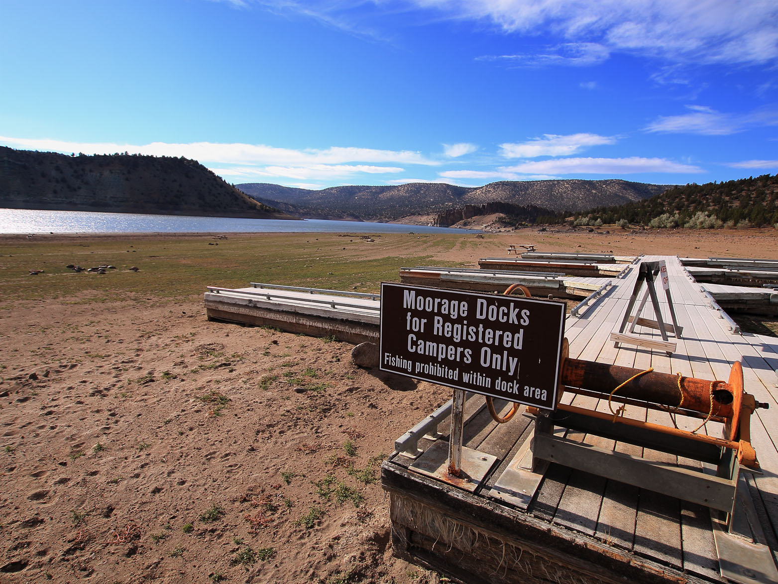 Prineville Reservoir very low water from drought