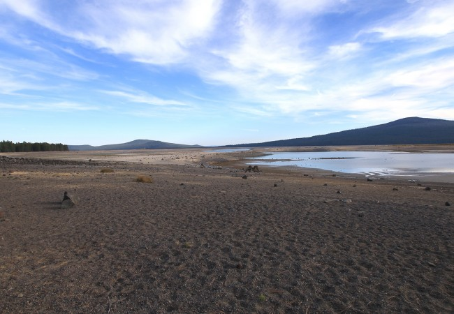 Wickiup reservoir at just nine percent to the wild for Wickiup reservoir fishing
