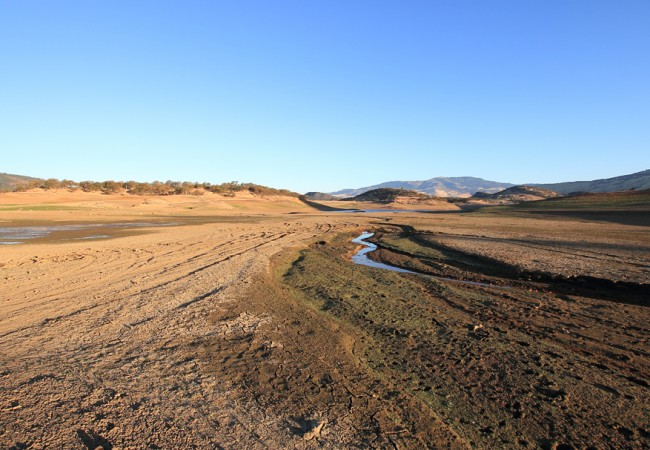 Not Much Left of Emigrant Lake in Southern Oregon's Drought