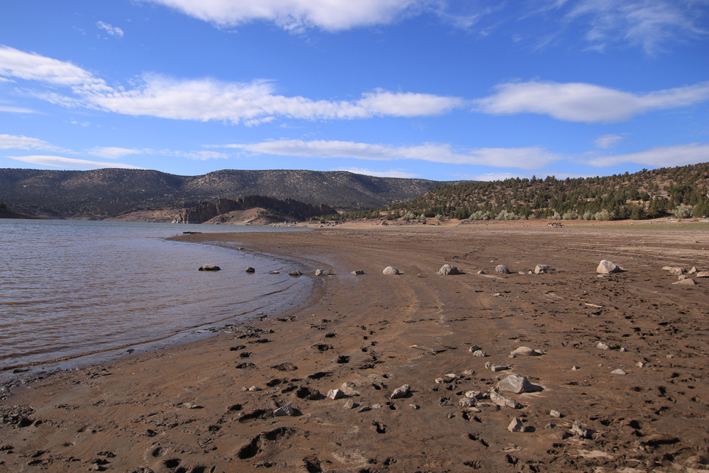 Prineville Reservoir at less than 30% capacity.