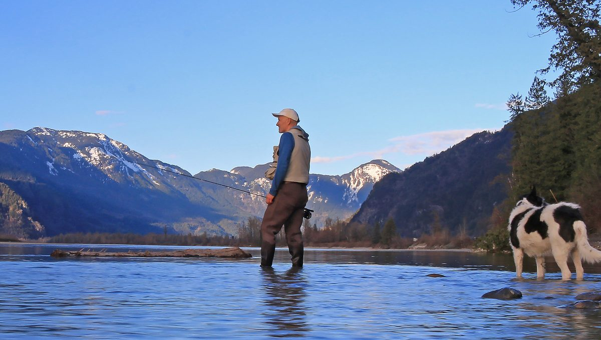 fraser river flyfishing for cutthroat trout