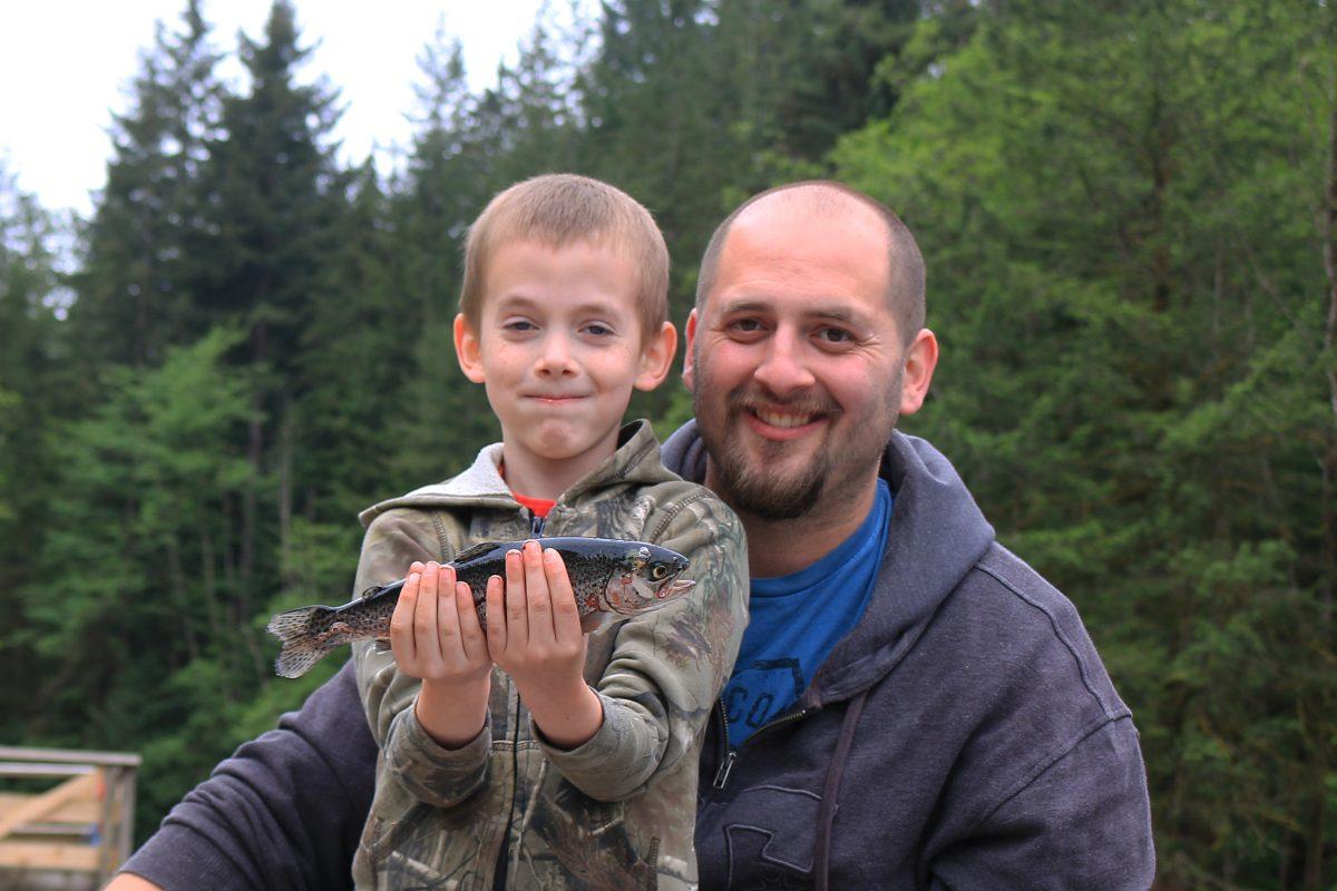 Fishing at Rice Lake, North Vancouver